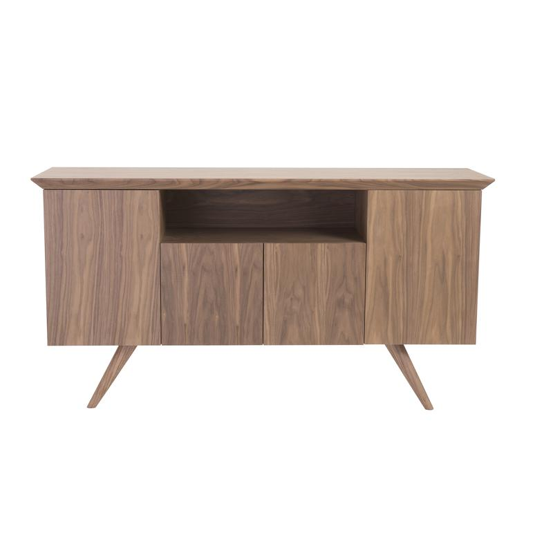 Low-Profile Storage Credenza of American Walnut
