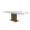 "White & Wood 95"" Extending Executive Desk"