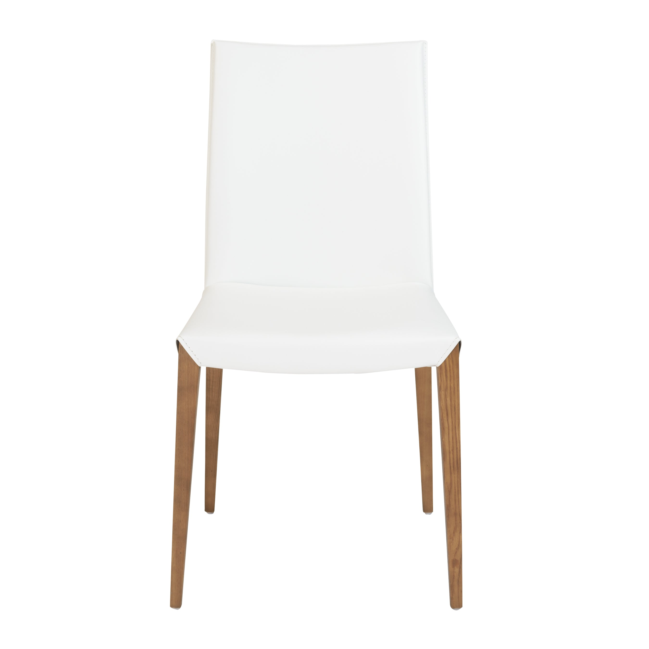 Charming White Leatherette Guest or Conference Chair (Set of 2)