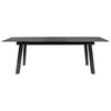 "Modern 71-91"" Gray & Black Conference Table or Desk with Self-Storing Leaf"