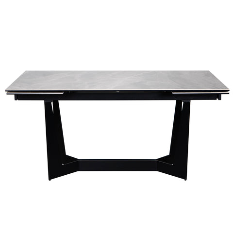 "63"" - 95"" Extension Executive Desk or Conference Table in Gray & Black"