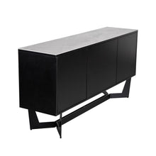 Load image into Gallery viewer, Sleek Storage Credenza in Black & Ash Gray