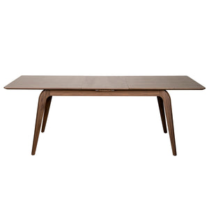 "63""-83"" Extending Meeting Table with Solid Legs in American Walnut"