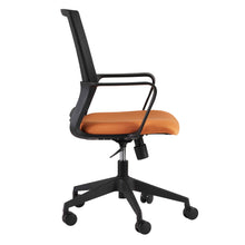 Load image into Gallery viewer, Mesh-Back Swivel Office Chair in Black & Orange