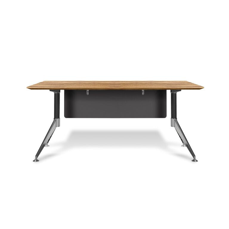 "Zebrano 63"" Modern Executive Desk with Privacy Panel"