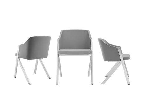 Gray Eco-Leather Guest or Conference Chair