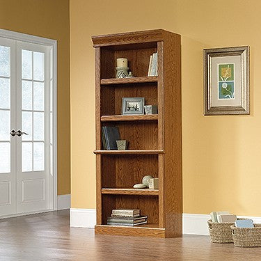 "71"" 5-Shelf Bookcase in Carolina Oak Finish"