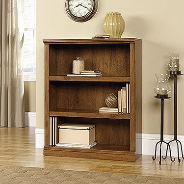 Elegant Oiled Oak 3 Shelf Bookcase
