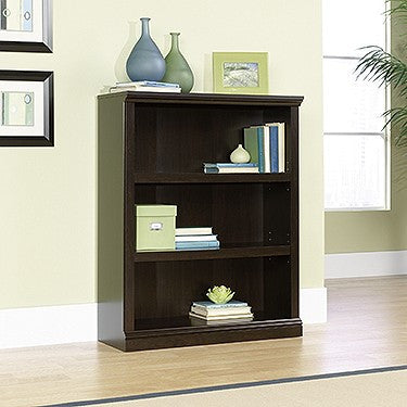 Elegant 3 Shelf Bookcase in Jamocha Finish