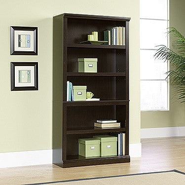 "Jamocha 70"" 5 Shelf Bookcase with Adjustable Shelves"