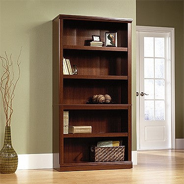 "70"" Tall 5 Shelf Premium Bookcase in Select Cherry Finish"