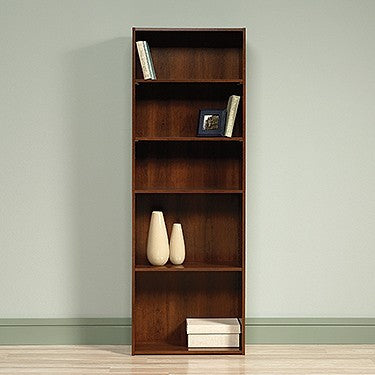 "5-Shelf 71"" Tall Bookcase in Brook Cherry Finish"