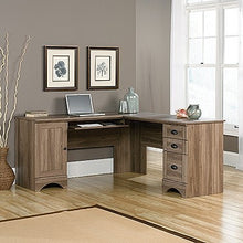 Load image into Gallery viewer, Modern L-shaped Reversible Corner Desk in Salt Oak