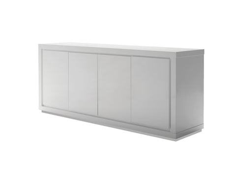 "Simple 70"" Storage Credenza in High Gloss White"