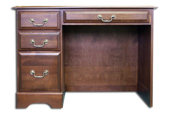 "42"" Handcrafted Solid Cherry Single Pedestal Desk with Finish Options"