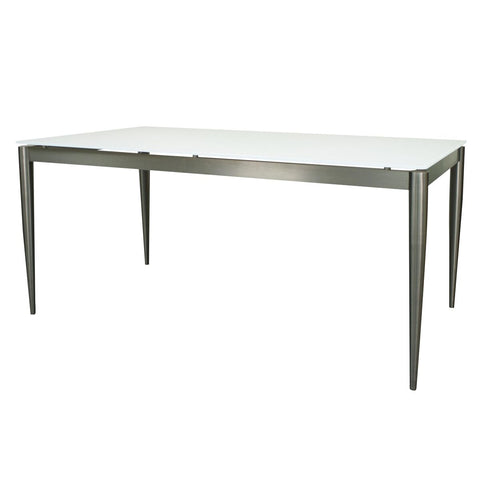 "63"" Stunning Glass Office Desk w/ Stainless Steel"