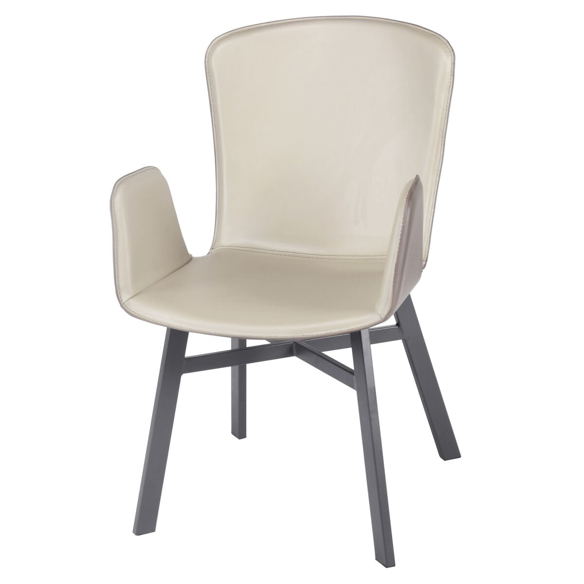 Unique Leatherette Guest or Conference Chair in Cool Ash Gray