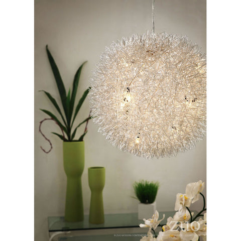 Natural Hanging Office Light w/ Puffed Look