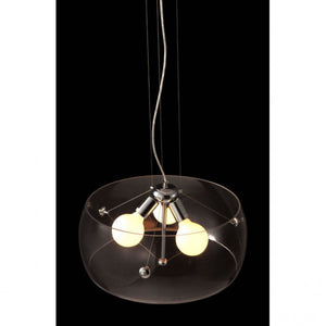 Elegant Ceiling Lamp w/ Clear Glass Shade