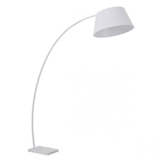 Sleek White Arched Office Floor Lamp