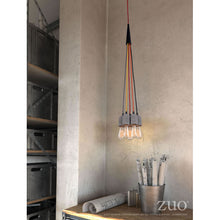 Load image into Gallery viewer, Cheerful Faux Cement & Multi-Colored Hanging Light Fixture