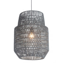 Load image into Gallery viewer, Gray Fabric Ceiling Light w/ Bell-Shaped Design