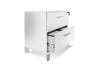 White Lacquer & Chrome Premium Locking Lateral File