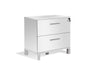 "60"" Modern White Lacquer Executive Desk"