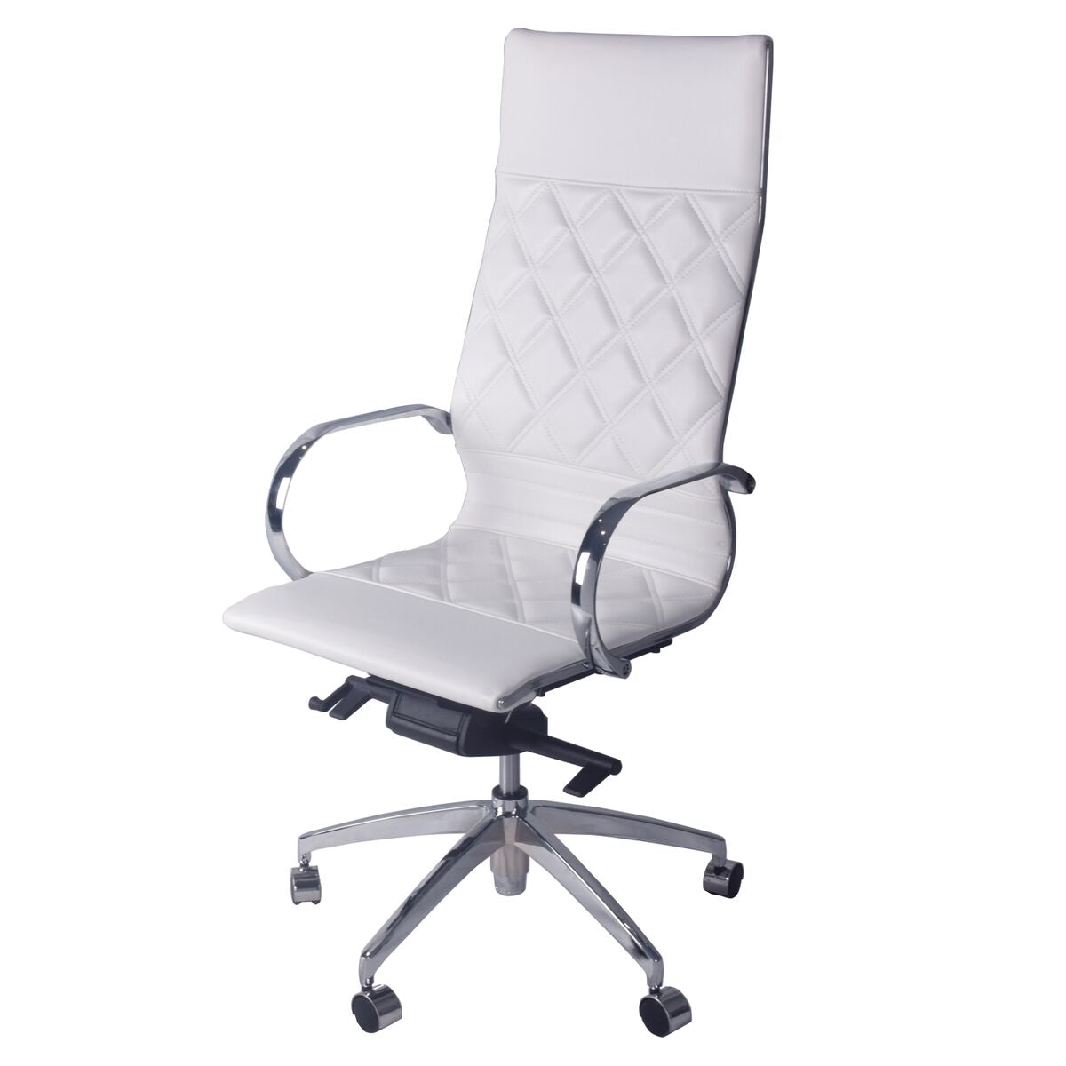 Iceberg White Diamond-Back Office Chair