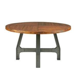 "54"" Round Meeting Table with Natural Acacia Wood Top"