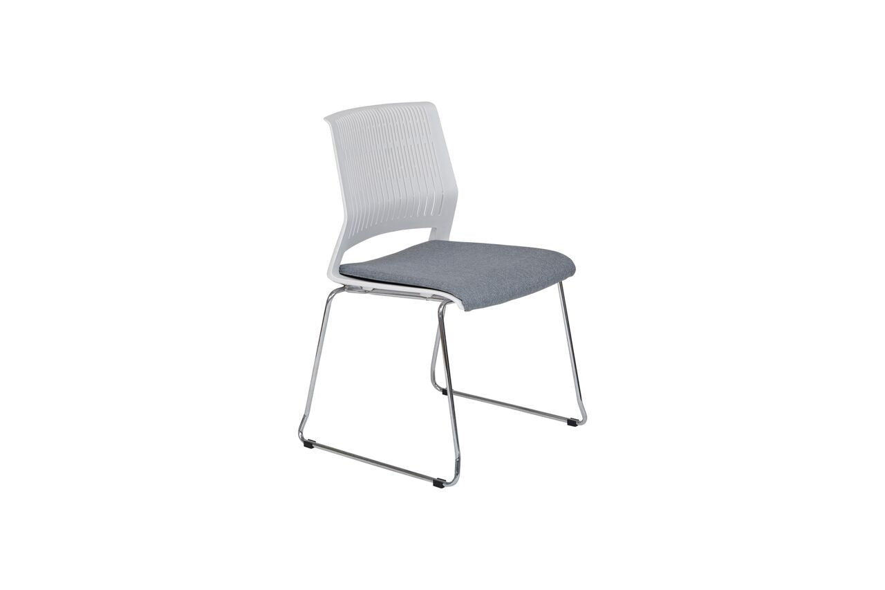 Black Stackable Guest Or Conference Chair W Flexible Back