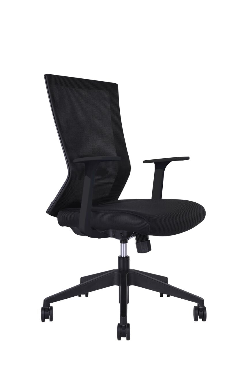 Classic Black Rolling Office Chair w/ Arms