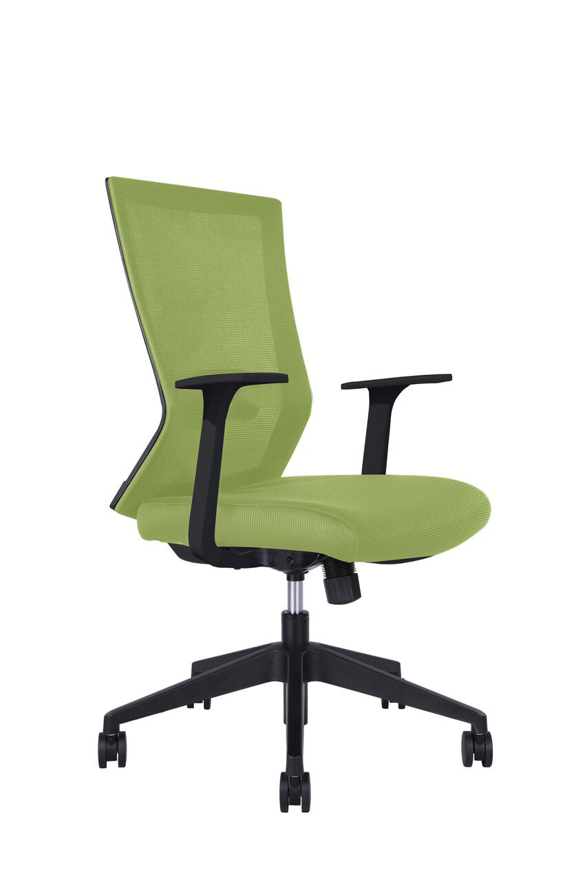 Classic Green Rolling Office Chair w/ Arms