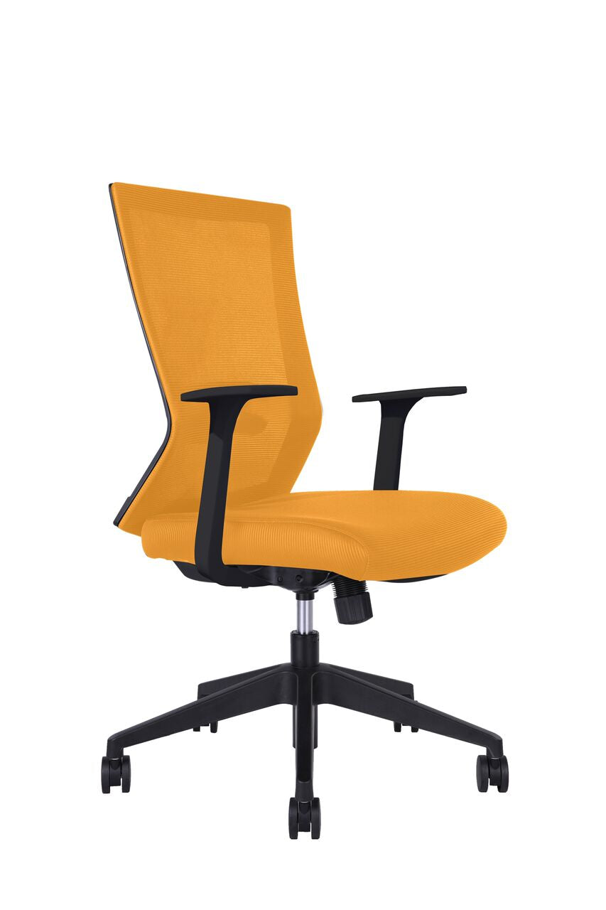 Classic Orange Rolling Office Chair w/ Arms