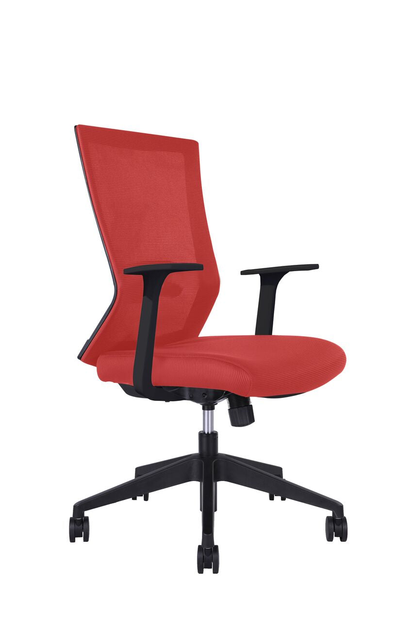 Classic Red Rolling Office Chair w/ Arms