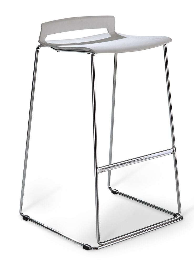 Classic Lightweight Guest Stool in White