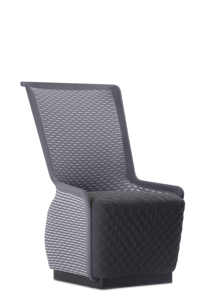 Stylish Grey Mesh Guest Chair