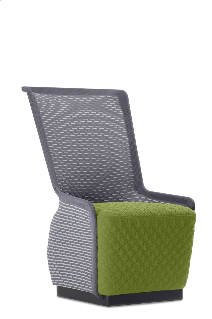 Stylish Green and Grey Mesh Guest Chair