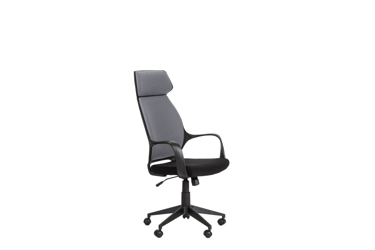 Contemporary Grey High-Back Office Chair