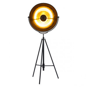 Antique Black Office Floor Lamp w/ Gold