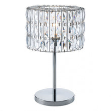 Load image into Gallery viewer, Luxurious Table Lamp w/ Chrome & Crystals