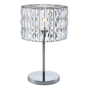 Luxurious Table Lamp w/ Chrome & Crystals