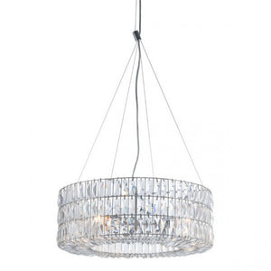 Luxurious Hanging Light w/ Chrome & Crystals
