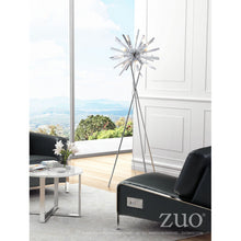 Load image into Gallery viewer, Silver Chrome Office Floor Lamp on Tripod