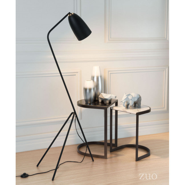 Elegant & Simple Black Office Floor Lamp