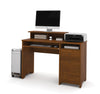 Contemporary & Compact Tuscany Brown Single Pedestal Computer Desk