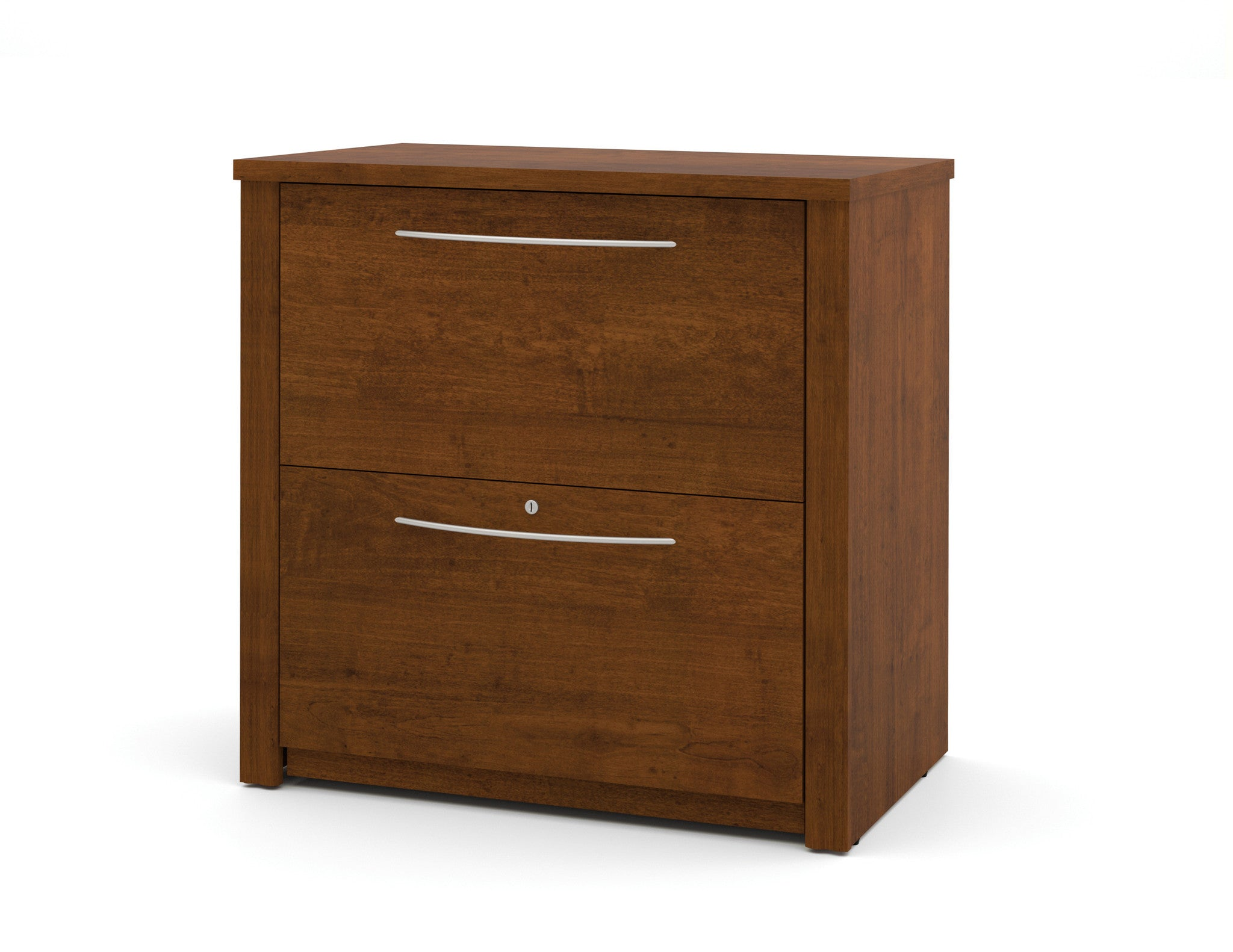 "Contemporary Embassy 30"" Lateral File in Tuscany Brown Finish"