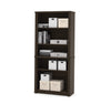Modern U-shaped Premium Office Desk with Hutch in Dark Chocolate