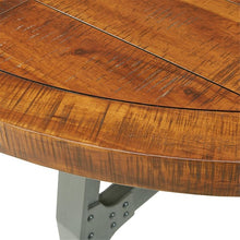 "Load image into Gallery viewer, 54"" Round Meeting Table with Natural Acacia Wood Top"