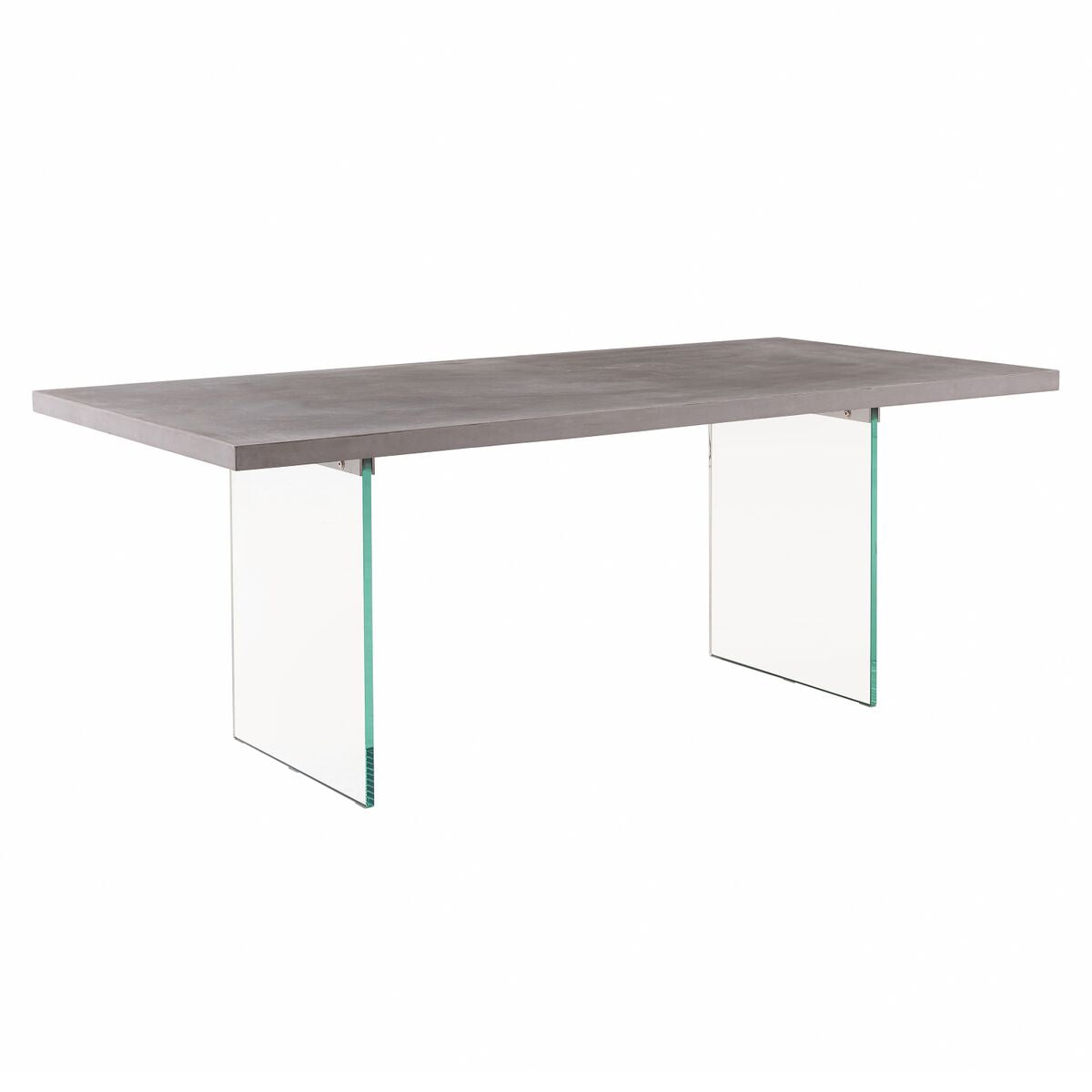 "79"" Inspiring Concrete and Glass Executive Desk"
